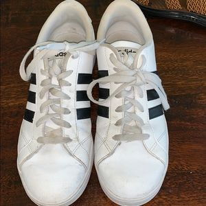 White adidas with black stripe size 9.5